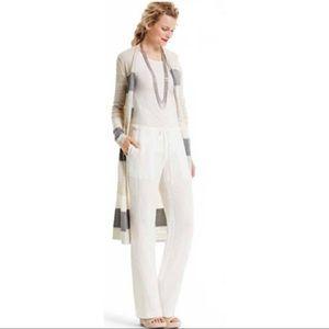 Cabi Linen Ivory Linen Blend Wide Leg Pant NWT